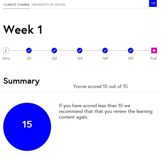 Week 1 result