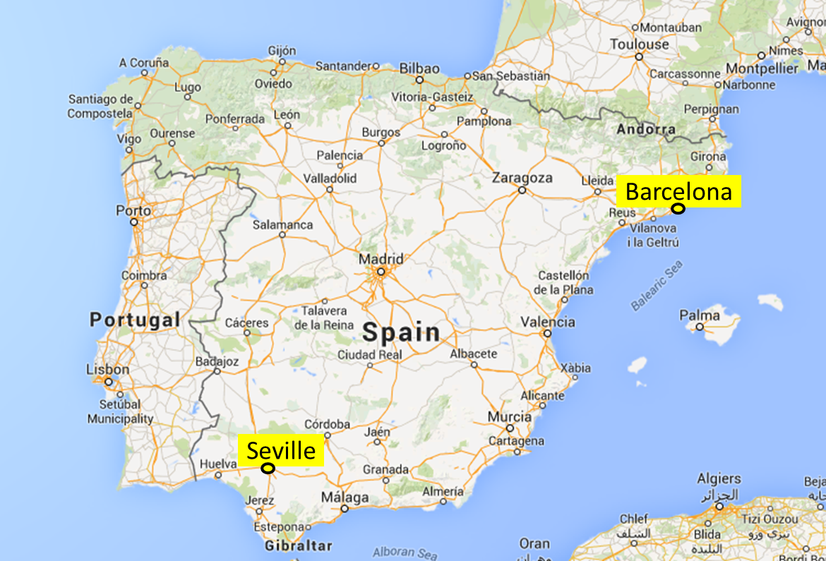 Where is Barcelona in which country 27